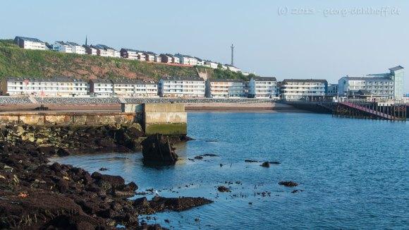 Blick vom Hafen auf die vorderen Häuserreihen - Bild Nr. 201306070872