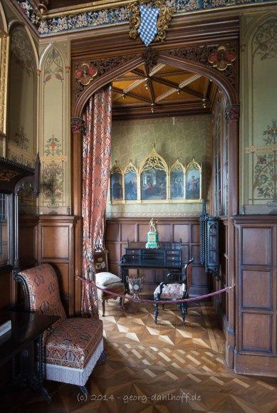 Schloss Stolzenfels: einer der Wohnräume - Bild Nr. 201405253019