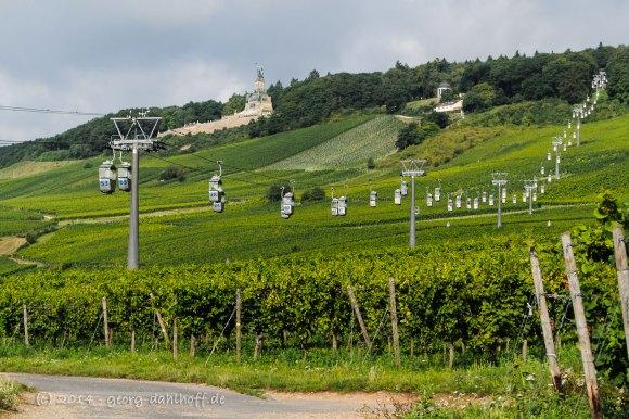 Die Seilbahn von Rüdesheim zum Niederwalddenkmal - Bild Nr. 201408173423