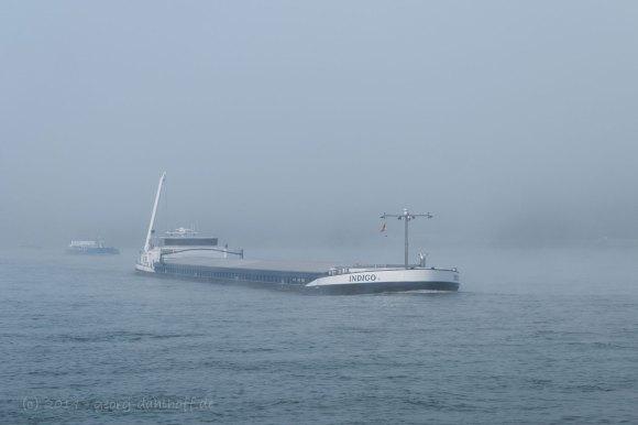 Frachtschiffe im Nebel - Bild Nr. 201411091659