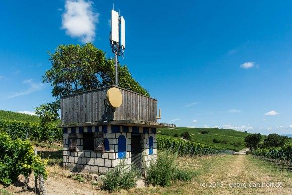 Mobilfunkstation im Weinberg - Bild Nr. 201507264773
