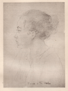 'Marae' -- pencil sketch by George Calderon, Tahiti 1906