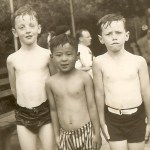 George (on the right) as a young boy in New York City.