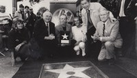 Hollywood Walk of Fame, George accepting his star, 1987
