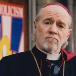 "On the set of ""Dogma"" as Cardinal Ignatius Glick, 1999"