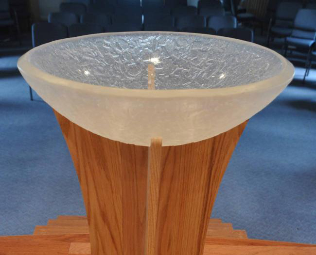 Cast Chunky Clear Baptismal Font 187 George C Scott