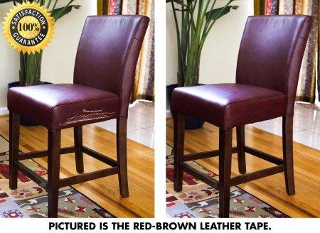 Leather Furniture Repair Tape Kit Tool Realistic Dark