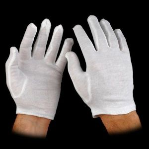 White Cotton Glove Liners