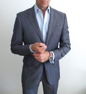 Custom suit.