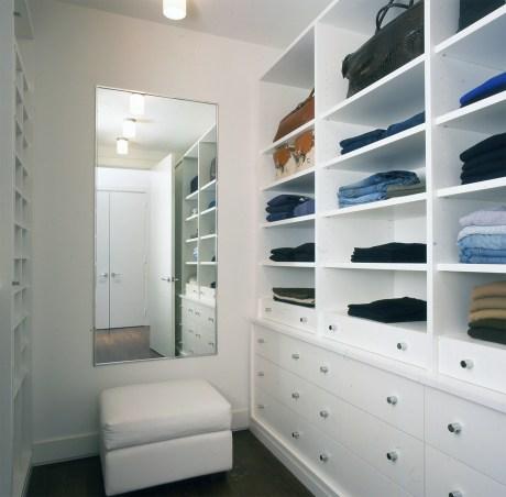 The closet in Michael Kors' New York apartment.