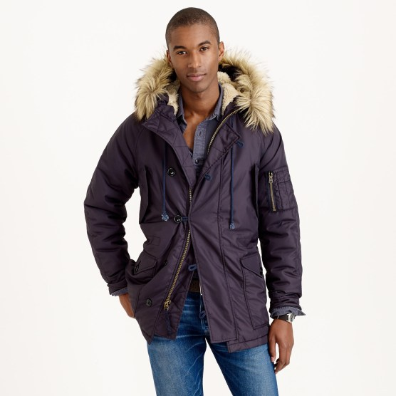 J.Crew Snorkel Jacket in navy.