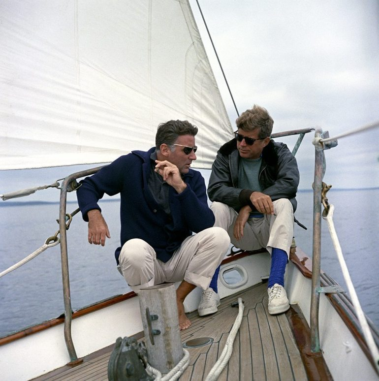 With Peter Lawford.
