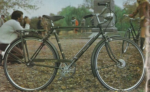 A vintage Raleigh.