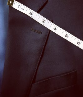 A slightly wider lapel than the skinny trend.