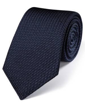 Navy grenadine tie from Charles Tyrwhitt.