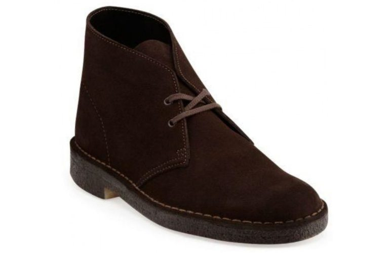 Clarks Original Desert Boot in dark brown suede.