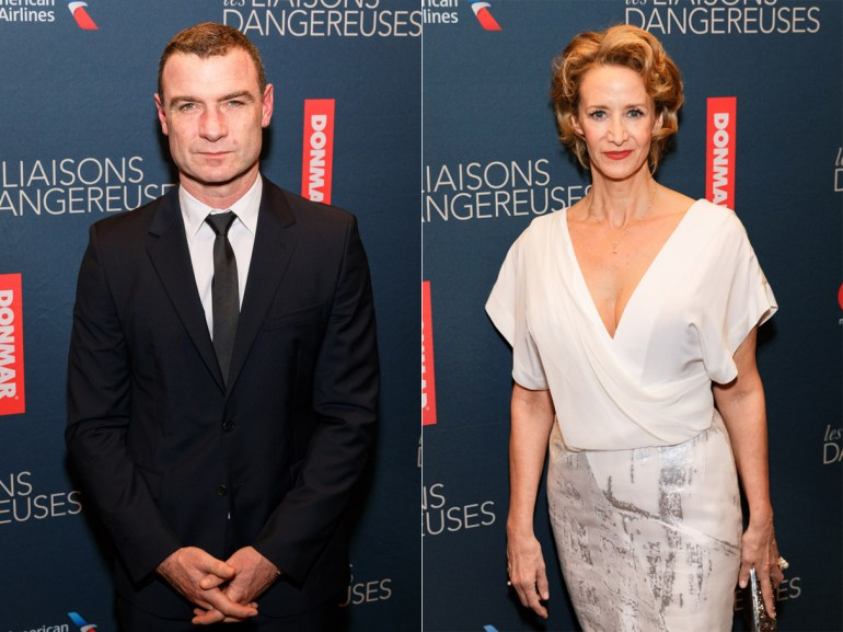 Liev Schreiber and Janet McTeer at the opening night party. (Photo by Emilio Madrid-Kuser © Broadway.com)