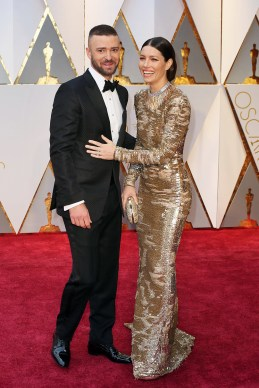 With his wife, actress Jessica Biel.