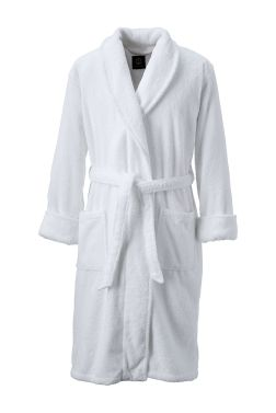14-Ounce Calf-Length Turkish Terry Robe from Lands' End.