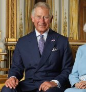 HRH Charles, Prince of Wales, in his usual double-breasted.