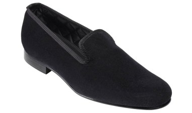 Plain Velvet Evening Slipper from Crockett & Jones.