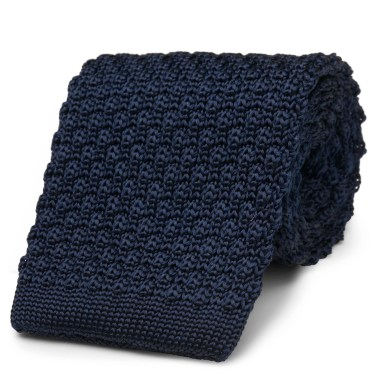 Navy Knit (silk)