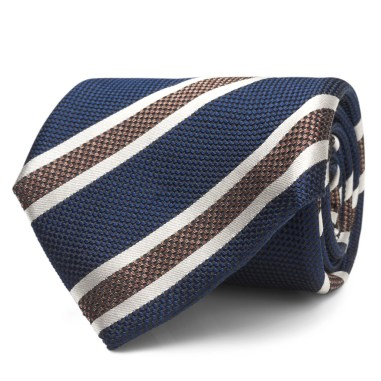 Navy Stripe (silk)