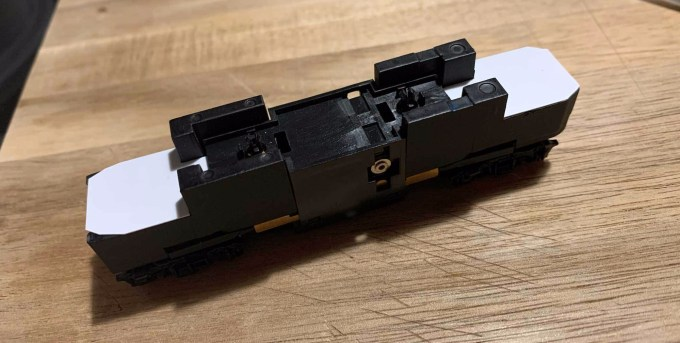 Athearn F59PHI with the shell and stock light board removed.