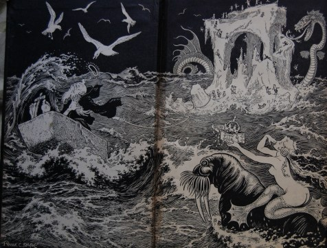Front Endpapers - Incredible. That's just the best way to describe Pape's beautiful art.