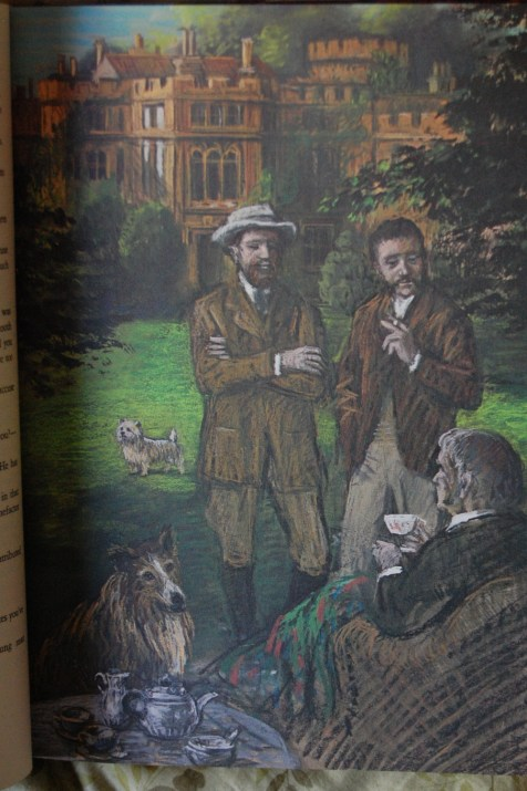 Page 8 - Browning's pastels are, in my opinion, a good fit with the Victorian era James utilizes.