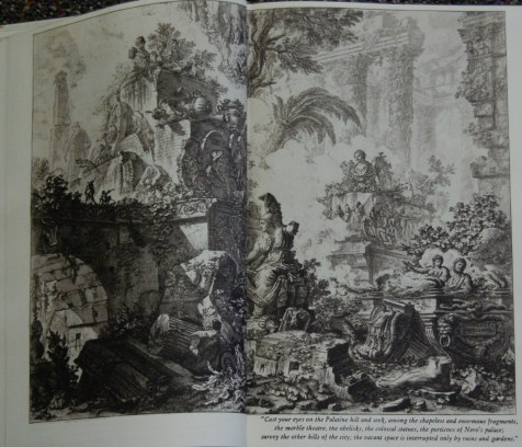 Page xlviii (illustration) - Piranesi's etchings are quite lovely, and all take up two page spreads in the three volumes. Mine has a brownish tinge to them that the camera did not really bring out, alas.