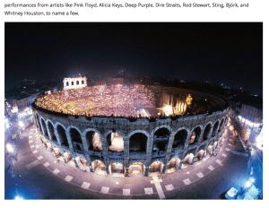 Verona amphitheatre concert