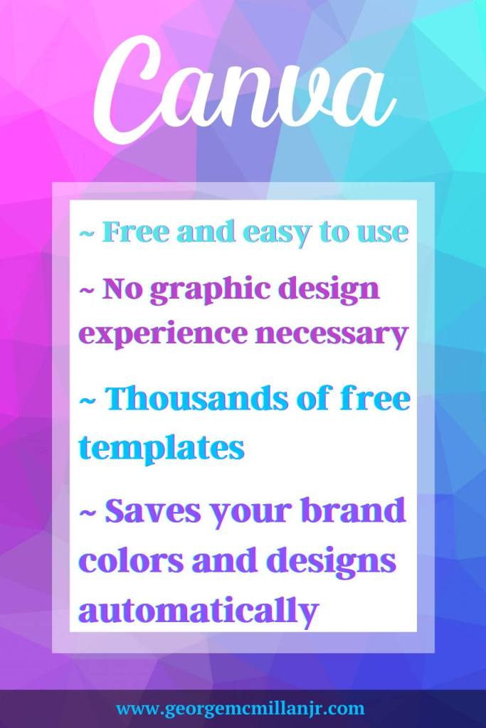 A graphic made with canva about the benefits of using Canva.