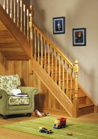 Achill Short Square Fluted Newel Post | 860mm x 91mm x 91mm
