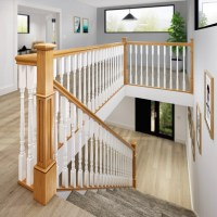 Long Square Box Newel Top with dowel   George Quinn Stair ...