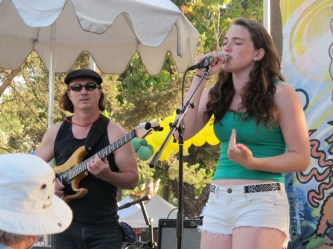 George with Camille Umoff at the 2013 Summer Solstice Celebration.