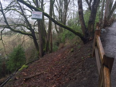 A switchback trail from Oaks Bottom Wildlife Refuge to Sellwood Park was closed because of erosion concerns.