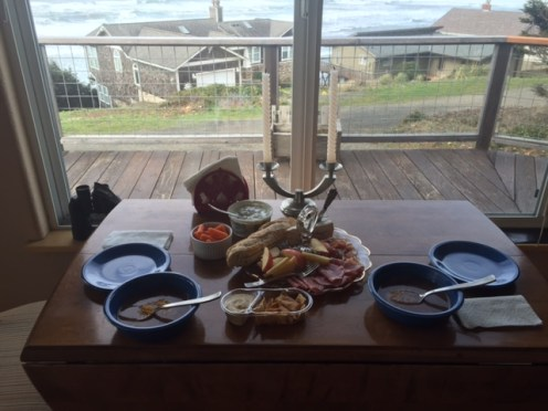 Lunch for two at our friends' beach house near Pacific City.