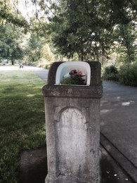 Who puts decorative flowers on their trash cans? The city of Corvallis does.