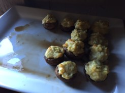 Stuffed mushrooms, just one of the many delectable appetizers made from scratch in Juliana's kitchen.