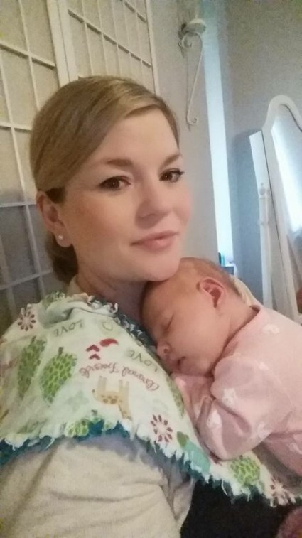 Daughter-in-law Jamie Lynn Rede, with Emalyn.