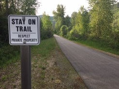 Private property rights are big in Idaho. I wasn't about to stray from the trail.