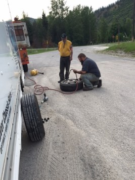U-Haul had to send a crew from Haugan, Montana, to replace the tire on our truck in eastern Idaho.