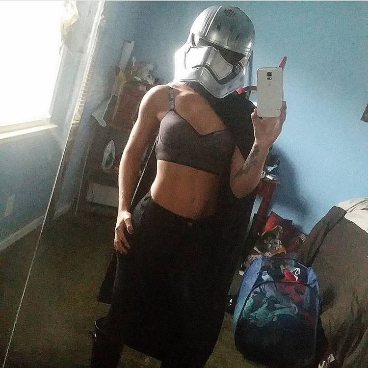 The proper way to get a geek selfie. Seriously, where are those girls? regram @slippery_when_fett I need to take new/more #captainphasma pics. #starwars I was thinking of being suuuperrrr cliche and trying a slave leia one? #selfie #selfienation #selfies  #me #love #pretty #handsome #instagood #instaselfie #selfietime #face #shamelessselefie #life #portrait #igers #fun #followme #instalove #movie #igdail #follow