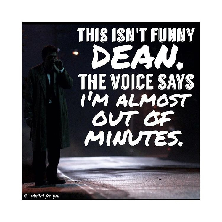 And she's very mean. regram @i_rebelled_for_you I have three quizzes this week agh. – – #supernatural #supernaturalfam #spn #spnfam #supernaturalfamily #spnfamily #supernaturaledit #spnedit #spnfunny #spnfandom #supernaturalfandom #castiel #cas #thevoicesaysimalmostoutofminutes #dean #deanwinchester #quote #edit – – ~i_rebelled_for_you