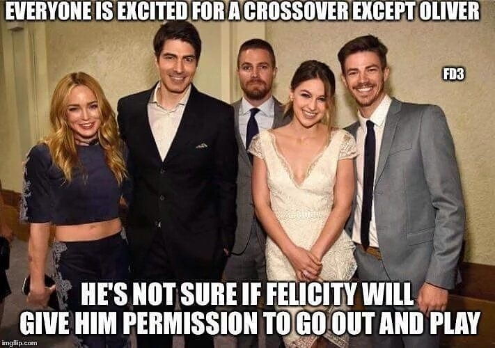 Whipped. regram @frederick_zabala Easy Olly use your tranquilizer dart on her and you'll go to your playmates lol #dccomics #dcuniverse #cw #theflash #arrow #supergirl #legendsoftomorrow #constantine #greenarrow #atom #whitecanary #firestorm #captaincold #heatwave #riphunter #johnconstantine #nerd #geek #instageek #instanerd