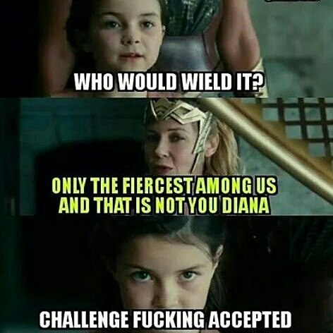 You don't tell Artemis what to do.  #Repost @fire.eyes.roth ・・・ repost via @instarepost20 from @nerdgamer1988 #wonderwoman #dccomics #meme #funny #instarepost20 #Diana #artemis