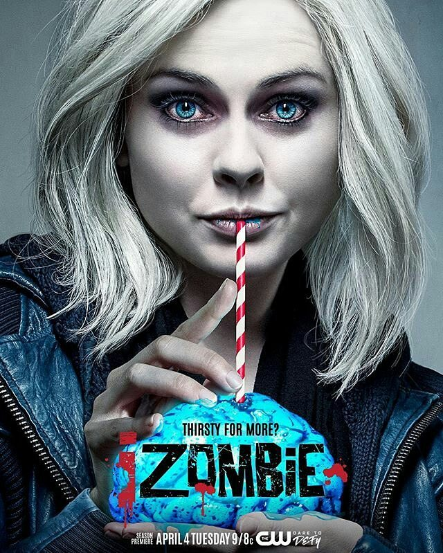 Nice brain. It brings out the blue in your eyes.  #Repost @thecwizombie ・・・ Quench your thirst for more #iZombie with the season premiere on April 4 at 9/8c!