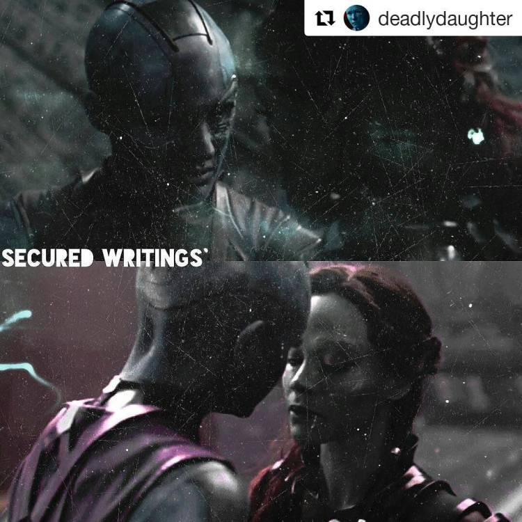 Karren Gillan is blue and extremely hot.  Repost @deadlydaughter ・・・ Secured writings with the tagged!  #nebula #guardiansofthegalaxy #guardiansofthegalaxyvol2 #guardiansofthegalaxy2 #marvel #marvelrp #rp #roleplay #marvelrp #nebularp #guardiansofthegalaxyrp #karengillan #amypond #gamora #starlord #drax #rocketraccoon #groot