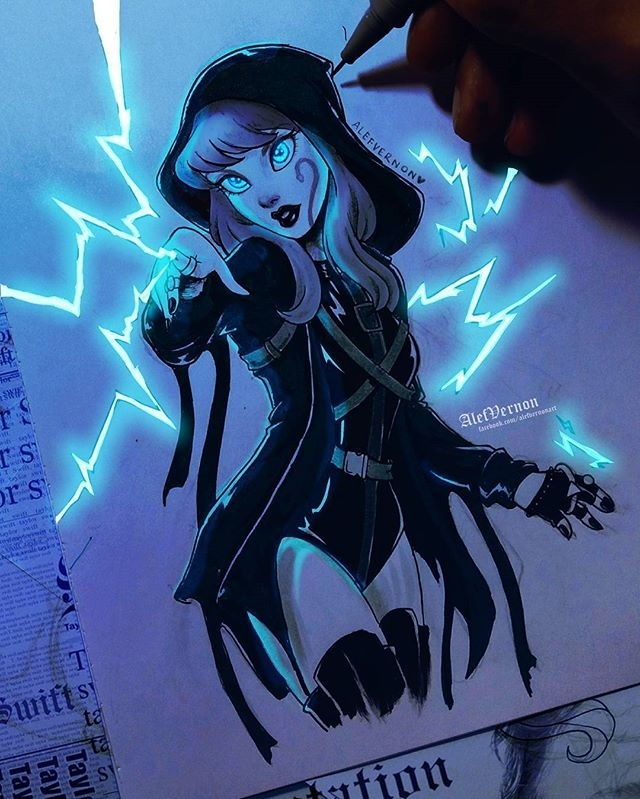Zzzap regram @alefvernonart Baby let the games begin! 💙⚡ I try to draw the power of Taylor on this drawing for today's inktober! I can feel your thunders @taylorswift and @josephkahn ☇ • Hoje é metade Inktober e metade digital, pra representar a taylor de Ready for it! o que acahram desse estilo? • #Inktober2017 #readyforitmusicvideo #reputation #taylorswift #readyforit ♡